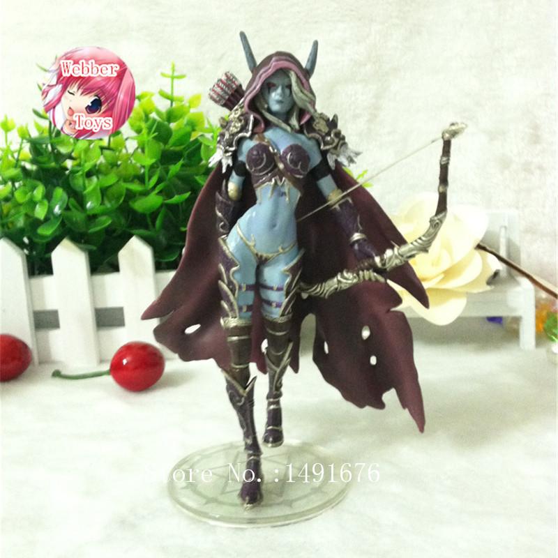 Game WOW Forsaken Queen Sylvanas Windrunner Action Figure Model Toy 15cm birthday gift free shipping<br>