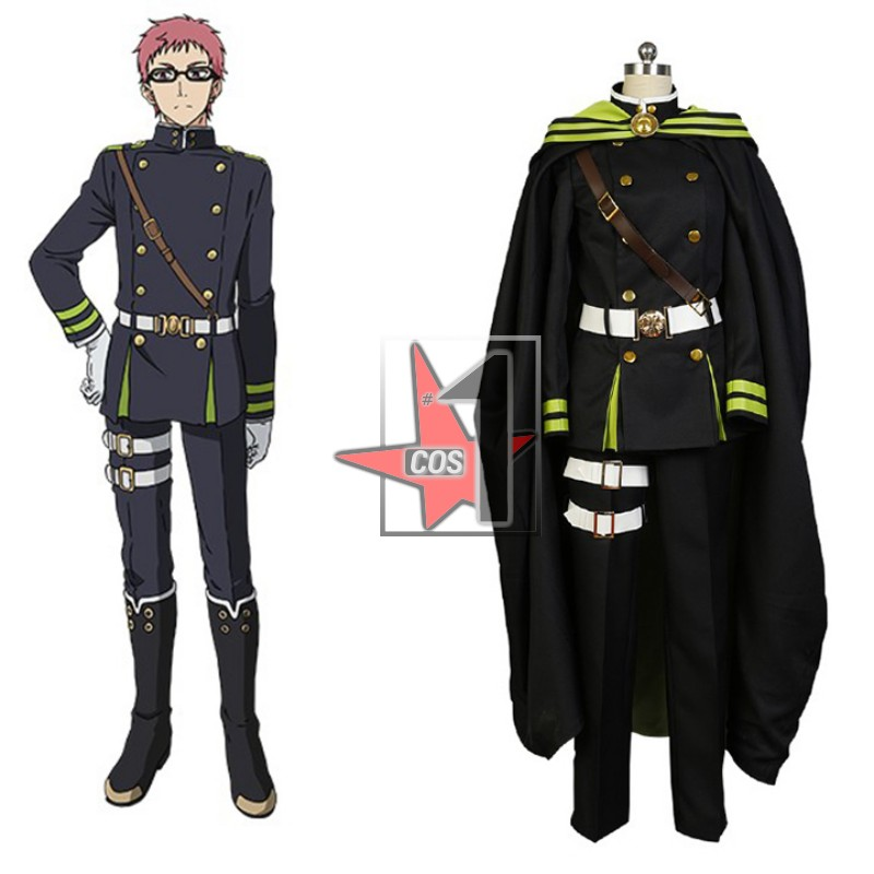 Japanese anime Seraph of the end  cosplay clothing Tailor made Yoichi Men's uniform suits for Halloween Party costumes CN0703