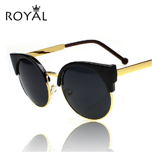 New Cat Eye Vintage Sunglasses Women Top Fashion Girls Summer Retro Round Sun Glasses Metal Oculos ss020(China (Mainland))