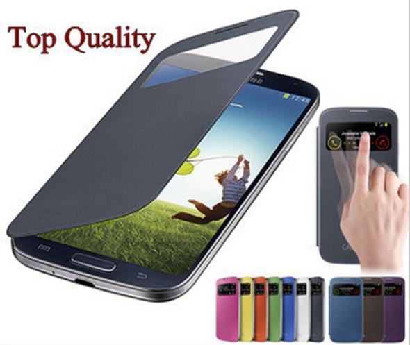 View window case samsung galaxy S4mini S4 SIV Mini i9190 original leather cases 9190 S 4 IV back cover skin covers - Fashion Store( store)