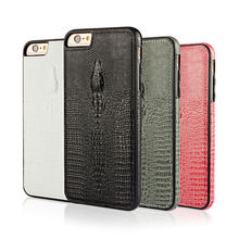 Luxury Genuine Real Leather Phone Case Cover For iPhone 6 Plus Case Accessories Crocodile Head Pattern Leather Case For iPhone 6