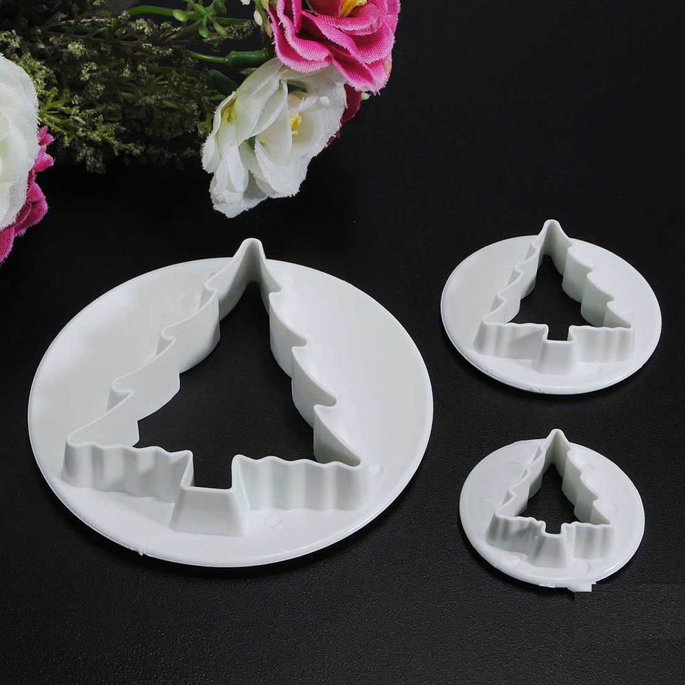 Caldwell Plastic Christmas Tree Cookie Biscuit Cake Fondant Molds Cutter(China (Mainland))