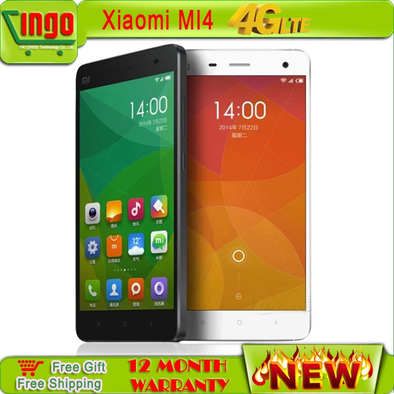 Мобильный телефон Xiaomi mi4 3G & 4G 5 Qualcomm 801 1920X1080P JDI 3 16 13 GPS MIUI