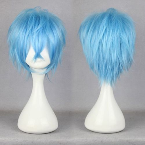 RH2948 fast shipping New Fashion Synthetic Blue Short Straight Anime Party Cosplay Full Wig<br><br>Aliexpress