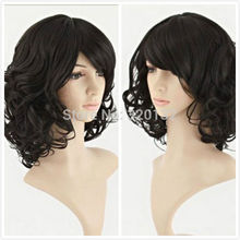 Short Curly Wave Healthy Hair Cosplay Party Costume Wig Revlon body silk base closure uk indian weave Hair Wigs (D Special di