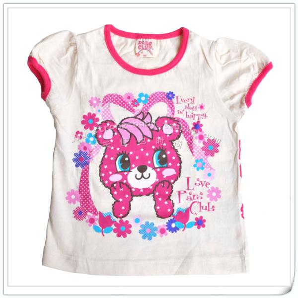 Small summer short-sleeve 100% cotton female baby short-sleeve pullover
