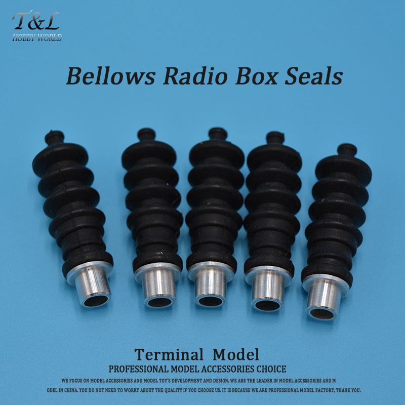 1PC RC Boat Aluminium fittings and Rubber Bellows Radio Box Seals Ideal For Servo Push Rod Seal To Rudder(China (Mainland))
