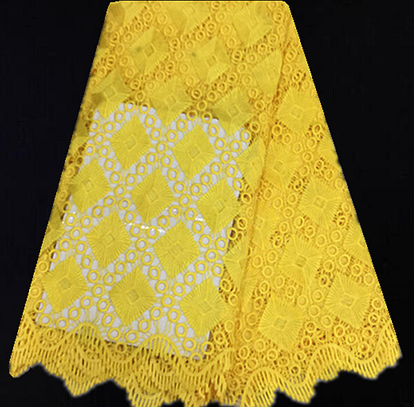 yls54 5 yellow free shipping fashion water soluble lace fabric low price sale african guipure. Black Bedroom Furniture Sets. Home Design Ideas