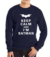 2016 new autumn winter keep calm l am batman brand hoodies sweatshirt men fashion funny sport fleece hip hop suit - women store