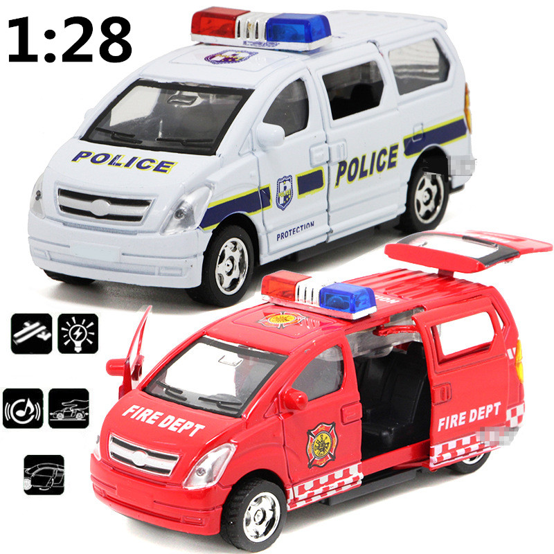 Children's toys alloy pull back car model, 1:28 high simulation business vans cars, police cars, ambulances,free shipping(China (Mainland))