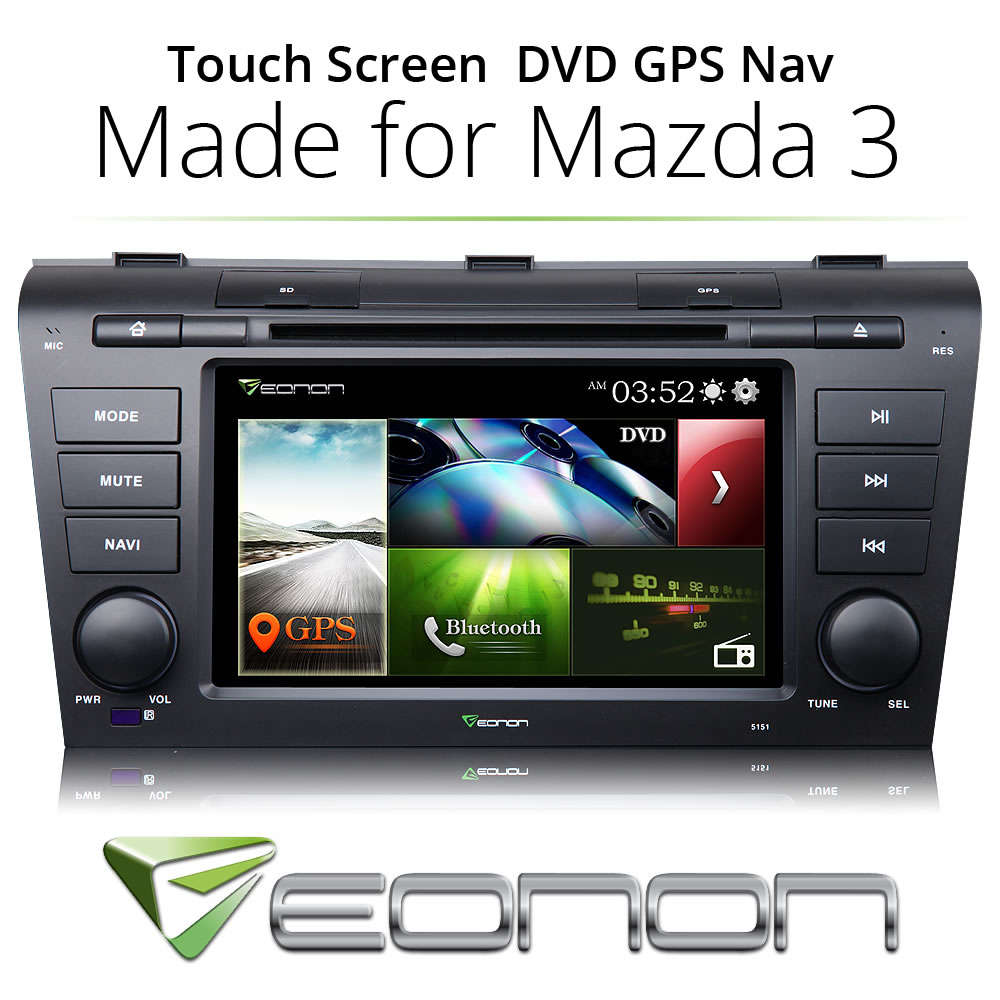 "Plug&Play 7"" D5151Z In Dash Car DVD GPS SAT Radio Stereo BT Touch MAP for Mazda 3(China (Mainland))"