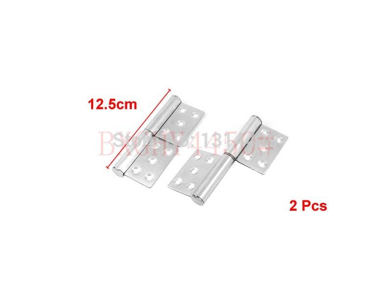 2 Pcs Furniture Closet Window Door Silver Tone Flag Type Hinges(China (Mainland))