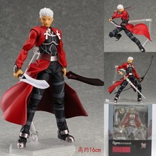HOT! 2016 Emiya hero fate stay night anime 15CM Hand model kids toy Action Figure cartoon PVC ornaments Children gift collection