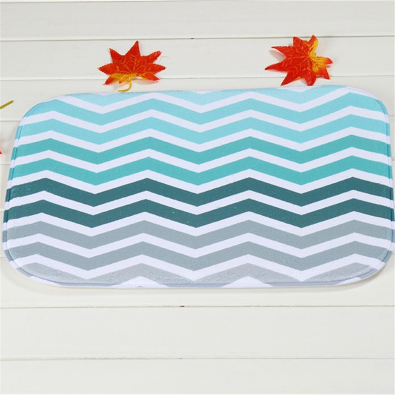 Coral Velvet Bathroom Carpet Mats Anti Slip Rug Shower 40x60cm Gradient  Stripes Bath Kitchen Doormat For Hallway Home Decoration   Us46