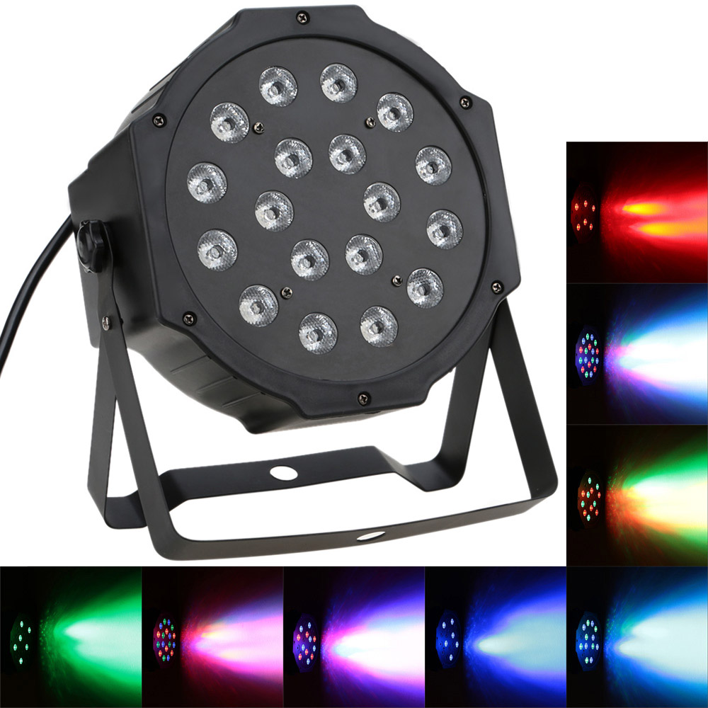 US Plug AC90-240V 25W LED Stage Lighting Effect Professional 7Channel RGB LED Stage PAR Light Strobe Disco DJ Equipment Lighting(China (Mainland))