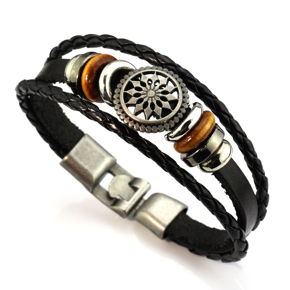 MeMolissa Best seller High Quality Diomedes Fashion Men Women Wrap Leather Bracelets bangles Braided Rope Enrole pulseiras de co(China (Mainland))