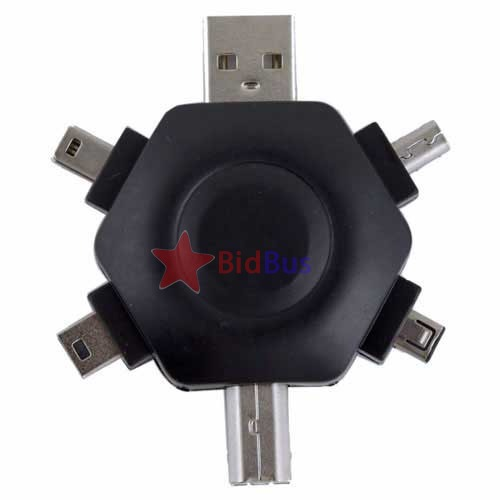 Bidbus Fast Mini Multifunctional 5in1 USB Connector Adapter+USB extension Retractable Cable(China (Mainland))