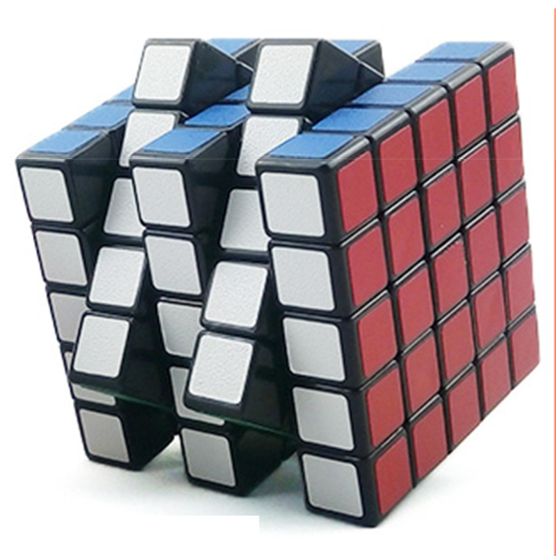 Good qualtiy Professional magic cube Cubos neo ice 5x5x5 Black Background Color Plastic puzzle game kids Toy 2.476''(China (Mainland))