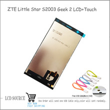 For 5″ ZTE Little Star Geek 2 LCD Display Touch Screen Digitizer Assembly Free Shipping With A USB Cable
