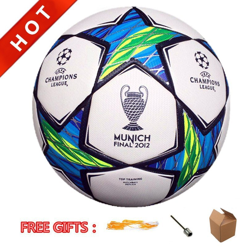 Final 2012 Munich Top Training Match Ball Soccer Ball Official Size 5# High Quality PU Laminated Football Anti-Slip Futbol(China (Mainland))