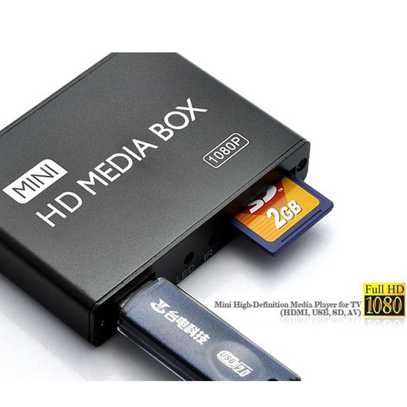 Brand New Mini HDMI Media Player 1080P Full HD TV Video Multimedia Player Box Support MKV/RM-SD/USB/SDHC/MMC HDD-HDMI AB0056(China (Mainland))