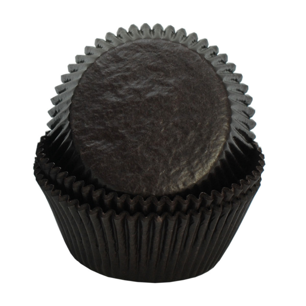 600 pcs plain chocolate coffee shop cupcake cases paper liners baking cups B167 K(China (Mainland))