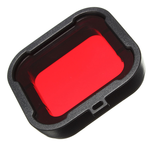 High quality Polarizer Red Underwater Sea Dive Snap On Water Filter for GoPro Hero3+ / 3 Plus(China (Mainland))