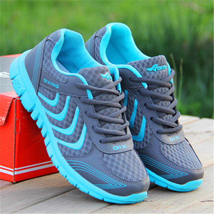 Shoes men 2017 New arrival qixing hot fashion breathable mesh plus size 39-47 men casual shoes(China (Mainland))