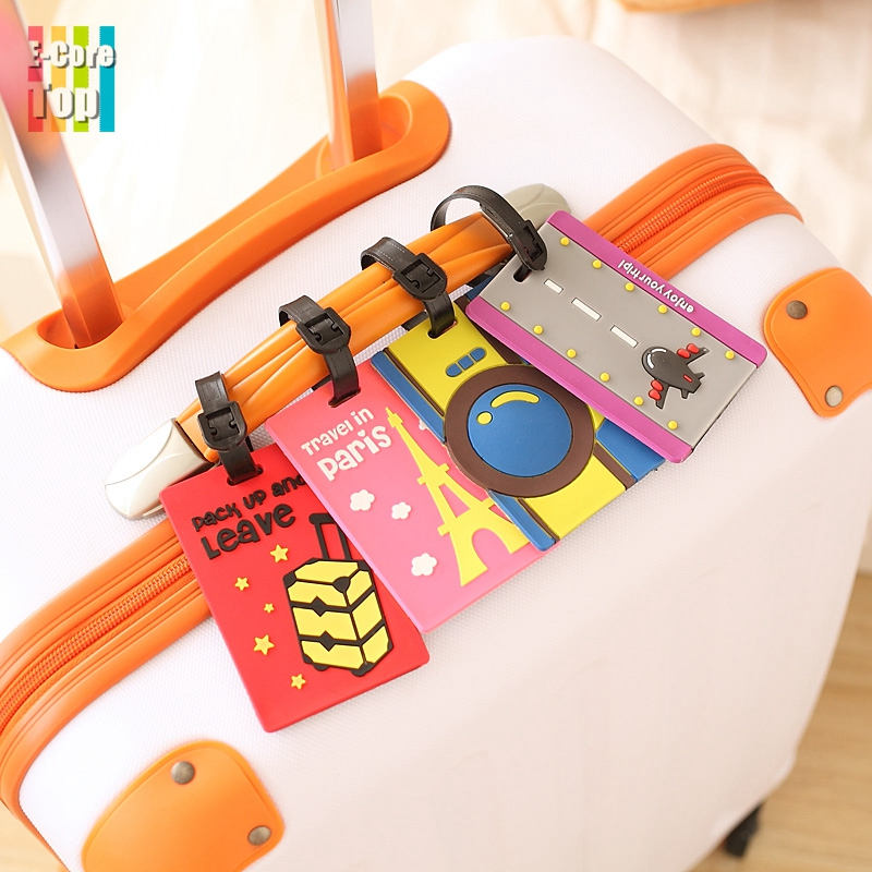 Portable Secure Suitcase Label Straps Personal Identify Multi-Pattern Information Write Holder Luggage Tags Fashionable(China (Mainland))