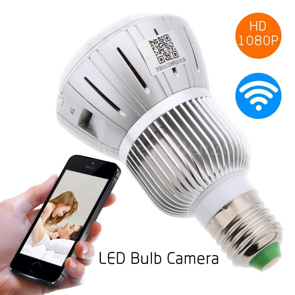 HD 1080P Hidden Smart Home Safty Wifi Camera E27 LED Lamp Bulb Security Camcorder Motion Detection