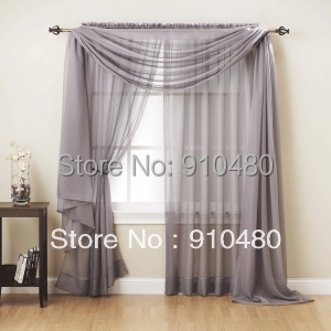 Sheer Cafe Curtains Scarf Valance Curtains Valance For Living Room