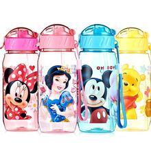 New 400ML Plastic Kids Drinking Water Bottles BPA Free Cartoon Straw Cup(China (Mainland))