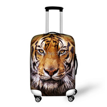 Free Shipping 3D Animal Elastic Travel Luggage Cover Fashion Dust-proof Tiger Print Protect Suitcase Sets Apply to 22-26 Inch(China (Mainland))