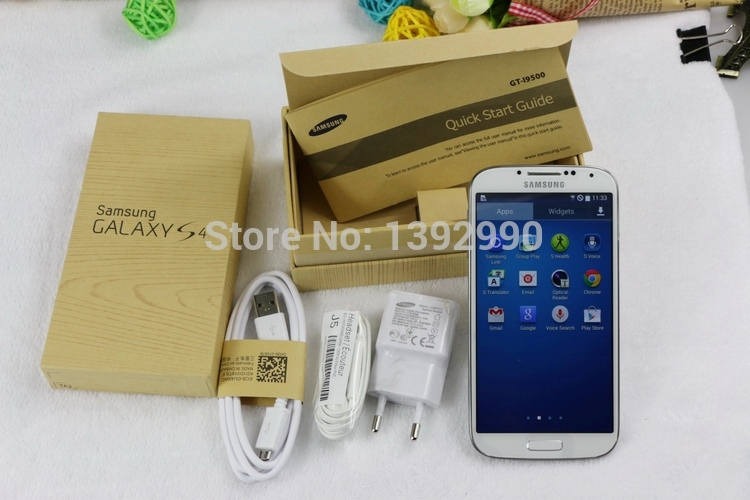 Original Unlocked Samsung Galaxy S4 i9500 i9505 Smartphone Quad Cell mobile Phones 4G 5 0 2GB