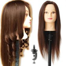 Brown Training Head for Hairdressers Hair Cutting Products for Hair Salon Model Mannequin Head Hair Hairdressing Doll Head Women