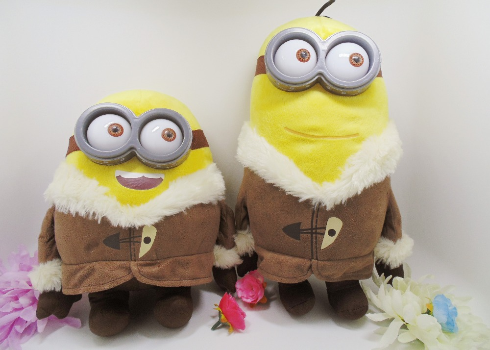 Гаджет  new 3D eyes minion plush toy high quantity despicable me doll yellow people banana people 2 style None Игрушки и Хобби
