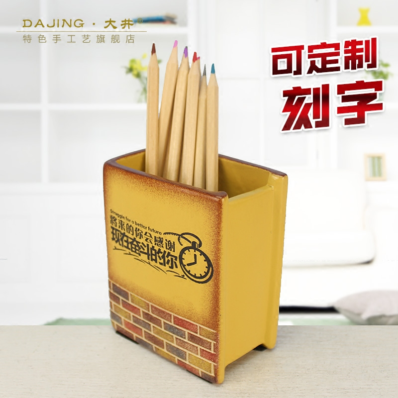 The study of ceramic creative pen office inspirational personality ornaments handmade custom business gifts gift company(China (Mainland))