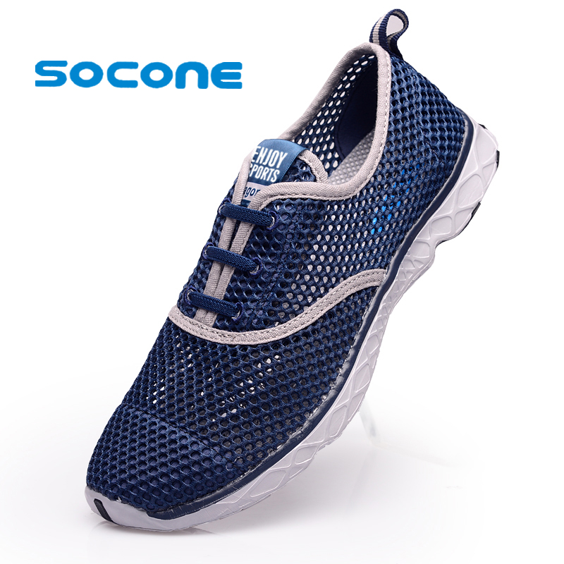 Light Womens/Mens Athletic Sport Running Shoes New 2016 Summer Outdoor Breathable Beach Water Mens Trainers zapatillas - Aleader Brand Flagship Store store