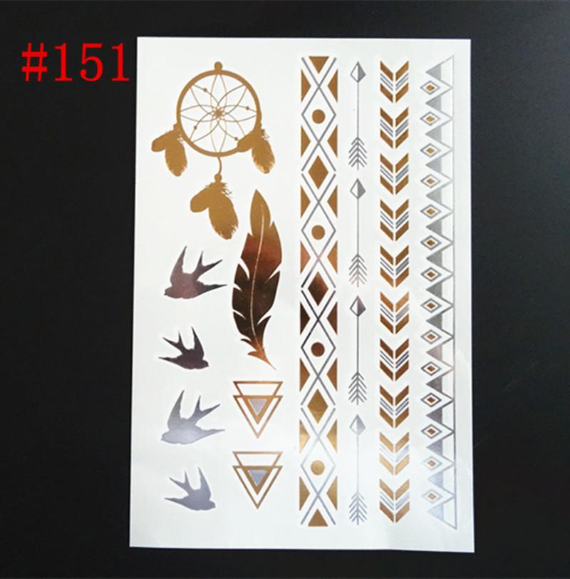 Временная татуировка  Metal tattoo stickers купить временная регистрация через уфмс