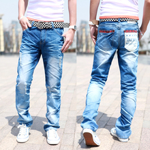 Free Shipping Men's jeans /fashion and slim fit classic Trousers,jeans men, blue,Size:28-34,100%guarantee ,drop shipping LP26(China (Mainland))