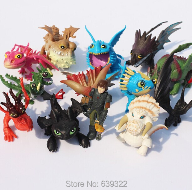 13pcs/lot How to Train Your Dragon 2 Action Figure Toys Hiccup Toothless Skull Gronckle Deadly Nadder Dragon Model Dolls(China (Mainland))