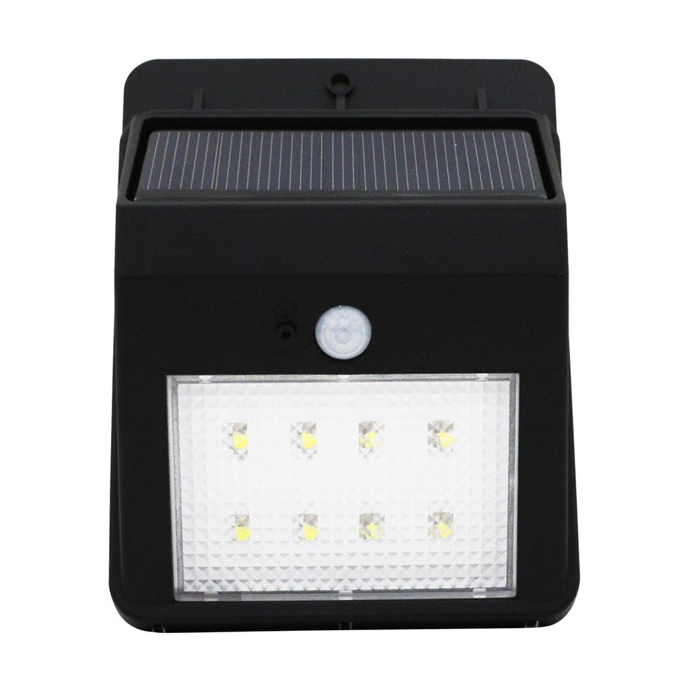 8 leds solar powered auto motion sensor light outdoor. Black Bedroom Furniture Sets. Home Design Ideas
