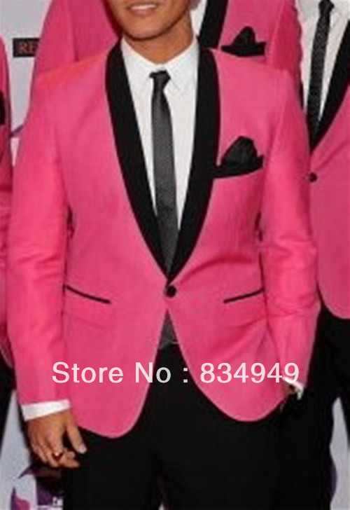 Online Buy Wholesale hot pink suit jacket men from China hot pink