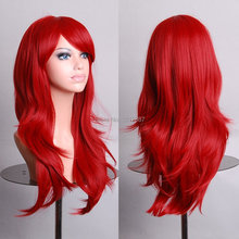 Anime Wigs Long Red High Temperature Hair Silk Wig Cosplay 70CM  HB88