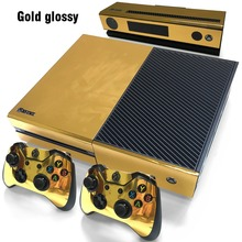 Gold Glossy sticker for xbox one Vinyl Sticker for xbox one console wireless adapter and controller sticker for xbox one skin