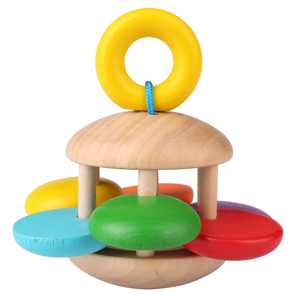 1 Set Wooden Bell Rattle Toy Handbell Musical Educational Instrument Toddlers Rattles Handle Developmental Toy Wholesales<br><br>Aliexpress