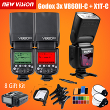 Buy Free DHL Godox 3xV860II-C V860IIC Speedlite GN60 HSS 1/8000s TTL Flash Light +X1T-C Wireless Flash Trigger Transmitter Canon for $578.70 in AliExpress store
