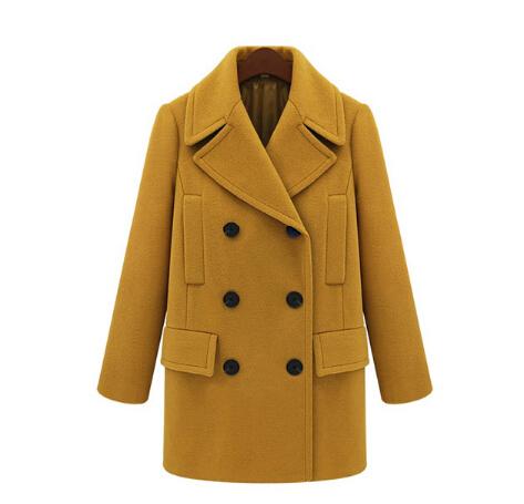 2015 зимней замшей овечьей шерсти куртка женская Сгустите теплый ветрозащитный оленьей отложным воротником женщин шерстяное пальто плюс Размер
