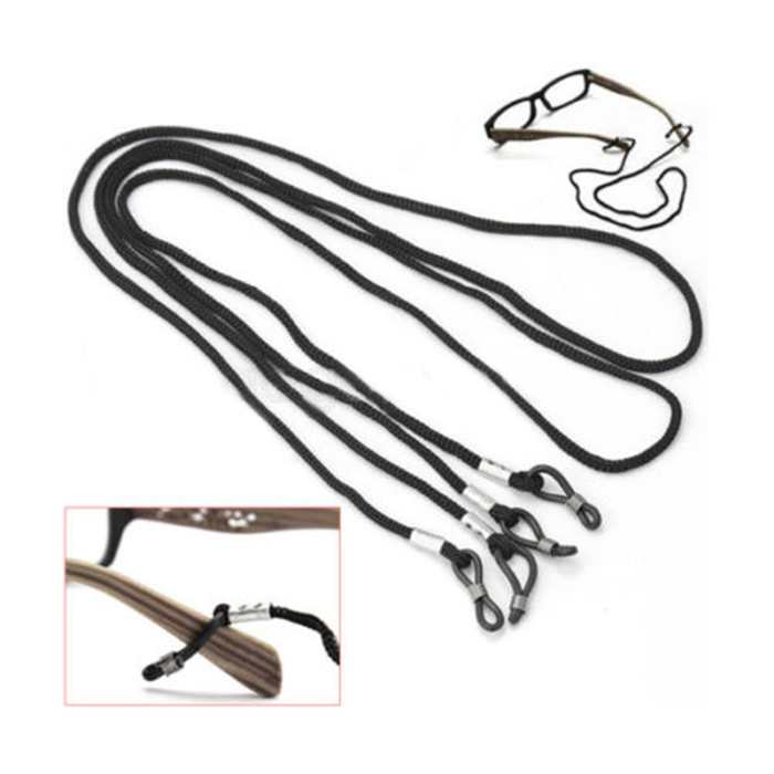 New Useful Black Glasses Strap Neck Cord Adjustable Eyeglasses String Lanyard Holder Exercise Essential