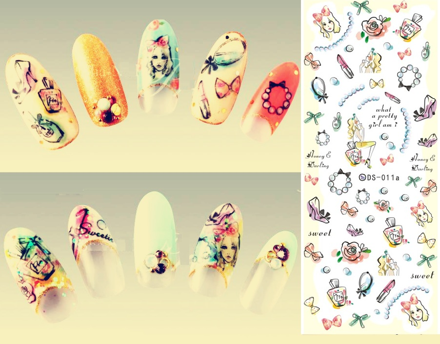 DS011 Water Transfer Foils Nail Art Sticker Harajuku Colorful Little Element Nail Wraps Decals Manicure Decor Styling Tools<br><br>Aliexpress